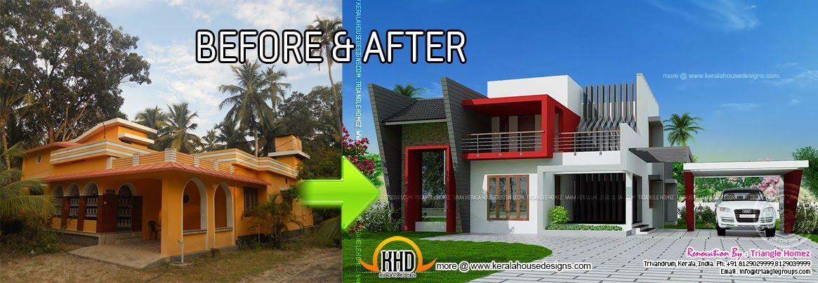major home remodel atlanta home remodeling cost verses value glazer construction house before and after pictures | Kerala house renovation : Before and  After | Indian House Plans