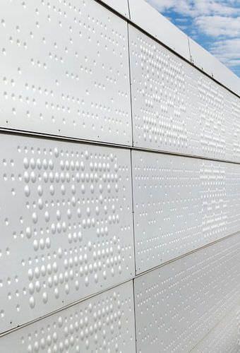 Perforiertes Blech Struktur Stahl Fassade Rmig Blech Fassade Fassade Blech