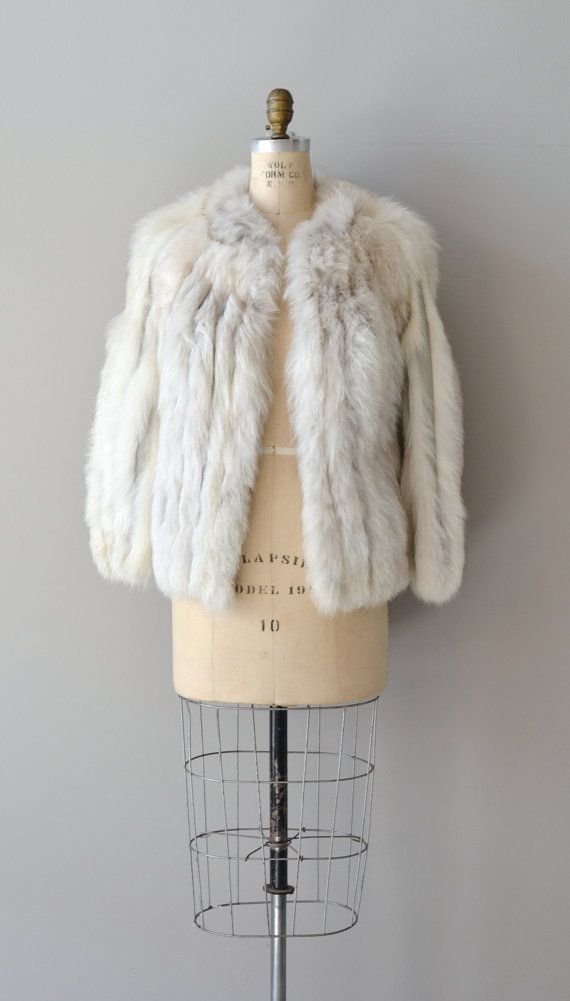 Yakutsk fox fur coat / vintage 70s fur coat / short by DearGolden, $165.00
