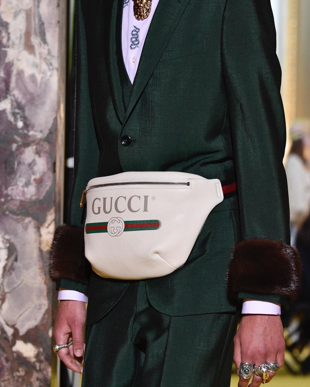 71dd6aa0cc3 Gucci goes normcore  Alessandro Michele presented an upgraded version of a  fanny pack in his cruise 2018 show.  GucciCruise18  Gucci  GucciSS17 ...