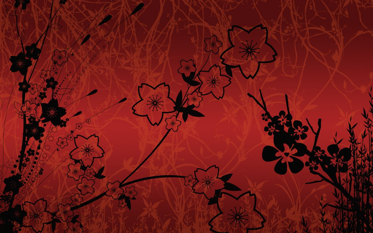 Asian Background Designs | ... silhouette japanese wall ...