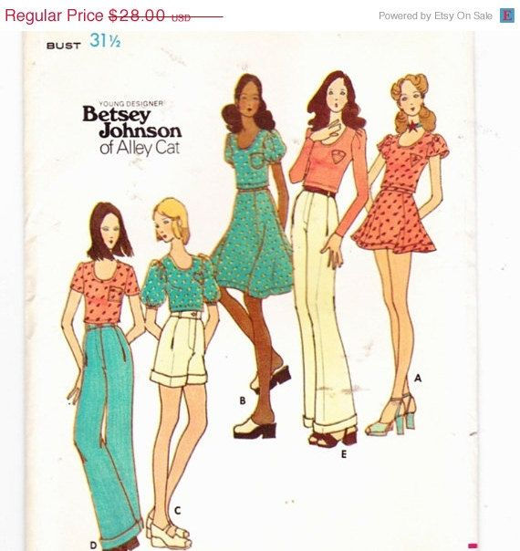 ON SALE 10% OFF butterick 6534 Top Skirt by RosesPatternTreasury