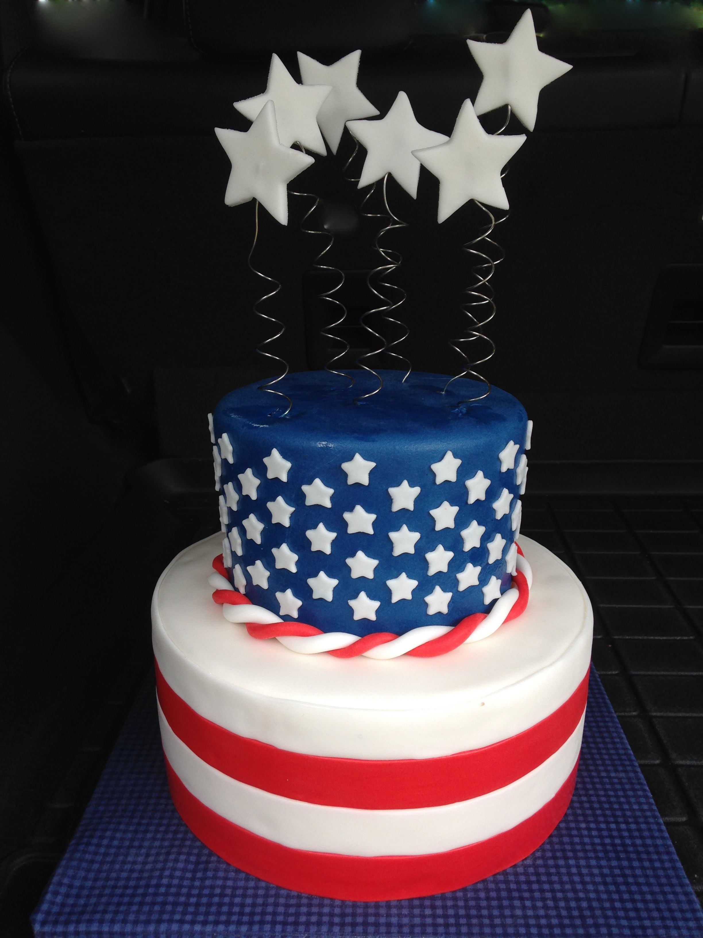 American Flag Cake Themed Cakes Pinterest See more best ideas about American flag cake ...