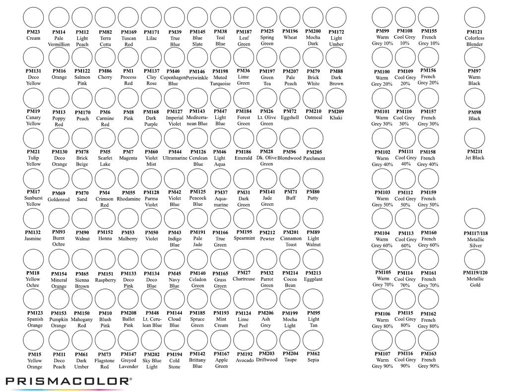 Prismacolor Marker Chart by NeddieDavid.deviantart.com on ...