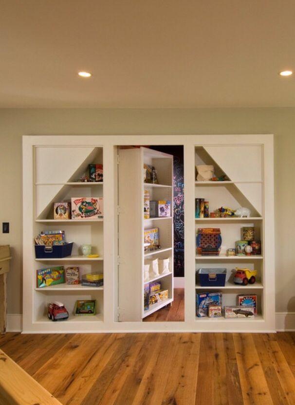 Love Secret Rooms - hidden room behind bookcase