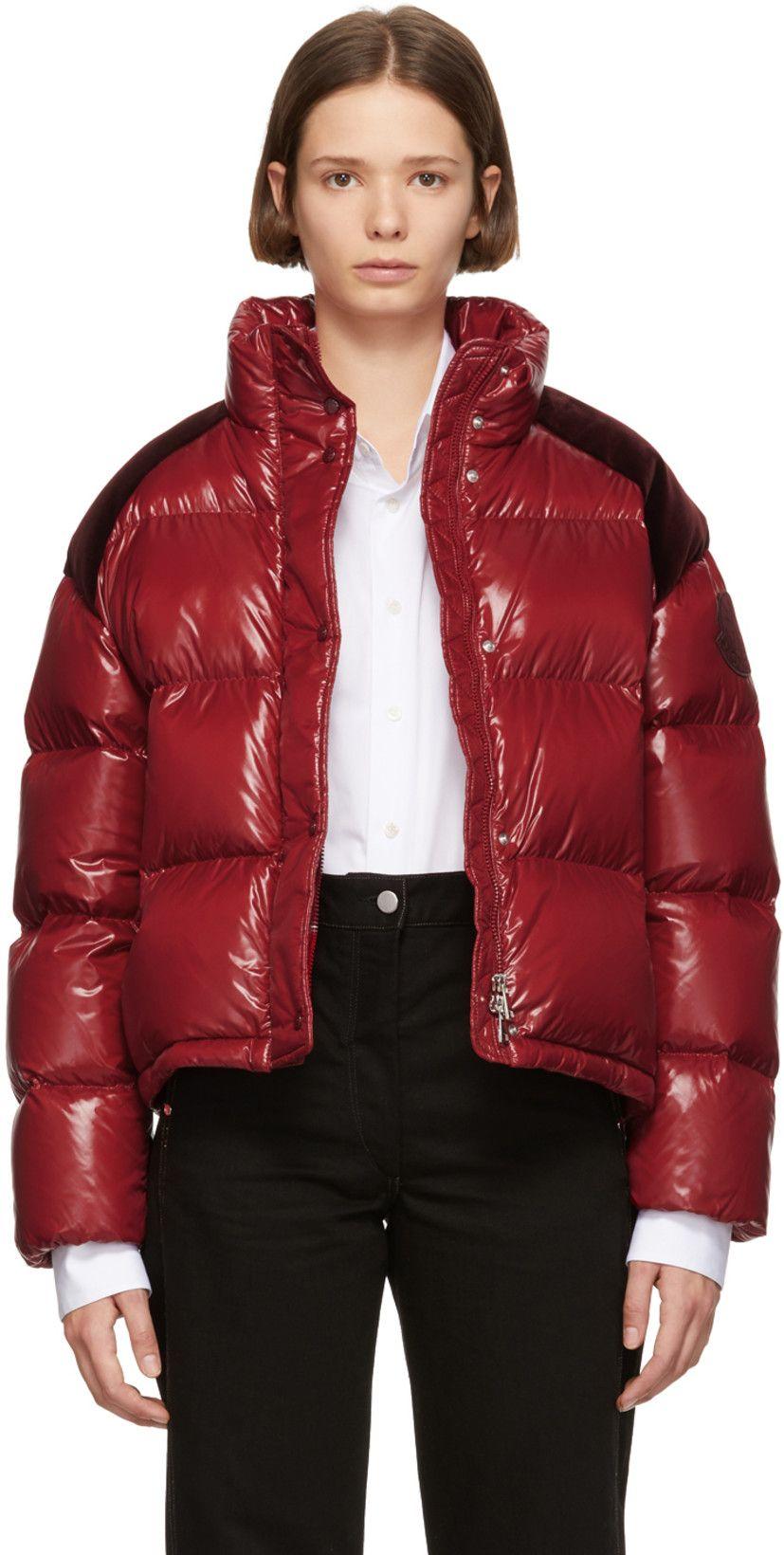 Moncler Genius 2 Moncler 1952 Red Chouette Down Jacket Moncler Down Jacket Jackets [ 1640 x 827 Pixel ]