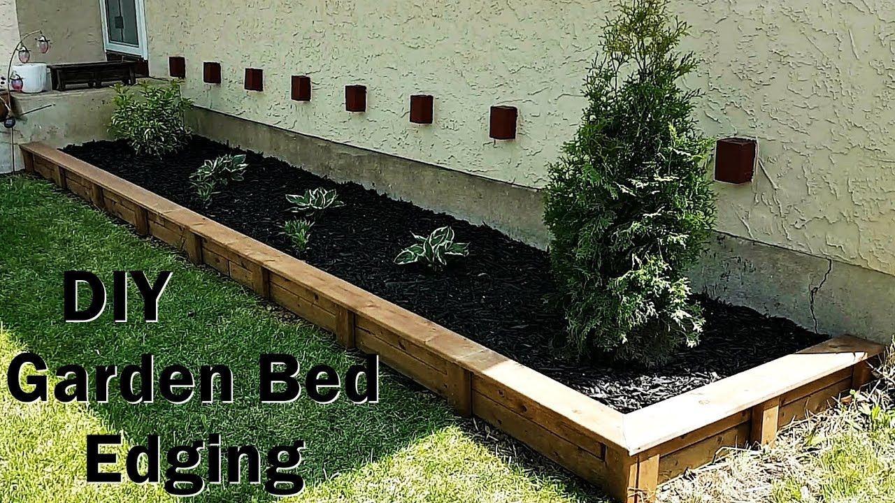DIY Garden Bed Edging anybody can do YouTube Diy