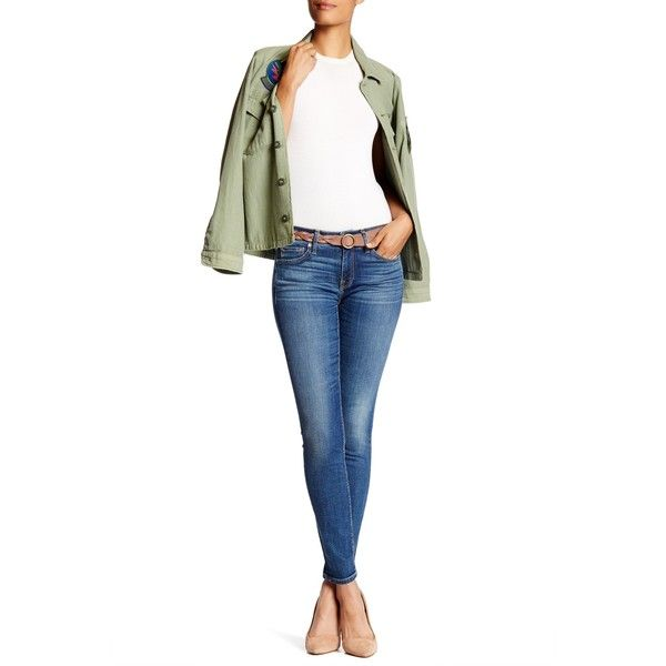 Strom Tio Skinny Ankle Jean ($100) ❤ liked on Polyvore featuring ...