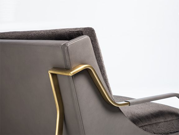 Holly Hunt   Contrast Upholstery In Leather