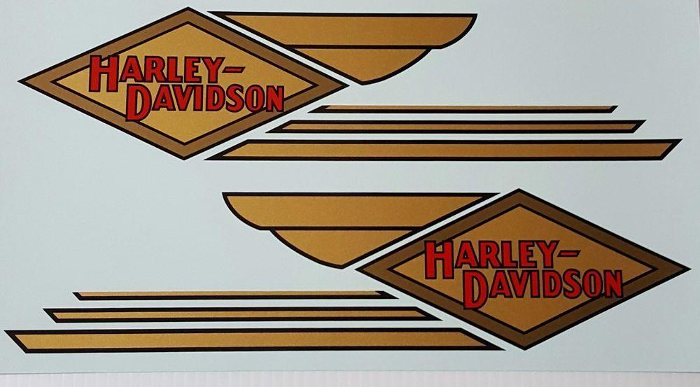 Harley Davidson Repop Decals For 1934 1935 Gas Tanks Hd Vintage Retro Vinilos