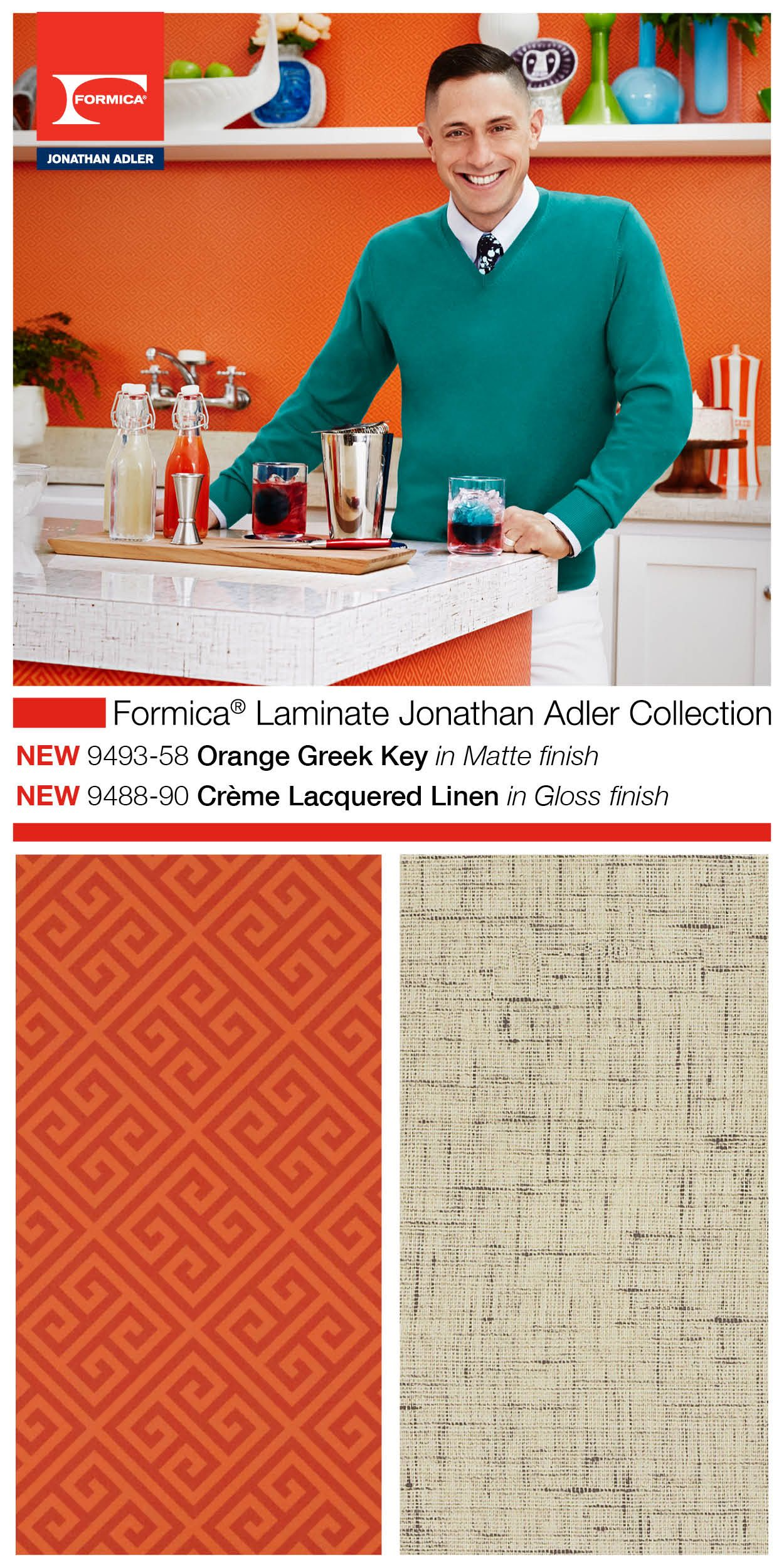 Formicagroup Introduced The Formica Laminate Jonathan Adler Collection At Kbis2015 As Part Of Their 2015 Residential Lau Formica Laminate Formica Laminate