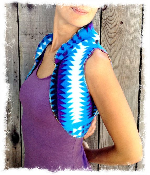 Blue Southwest Vest by Rana Satori Design $35~