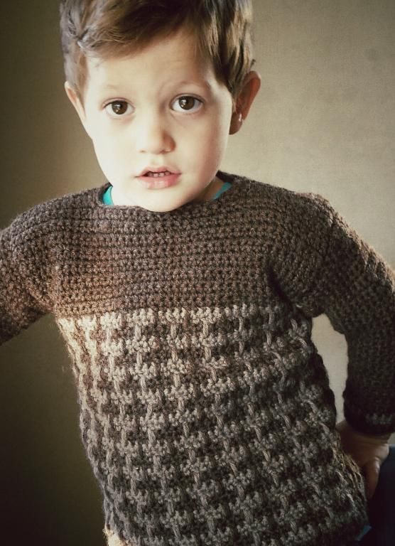 5 Free Crochet Sweater Patterns For Beginners Pinterest Kids