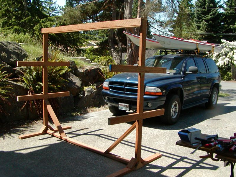 Building an outdoor boat rack | Kayak storage rack, Kayak ...