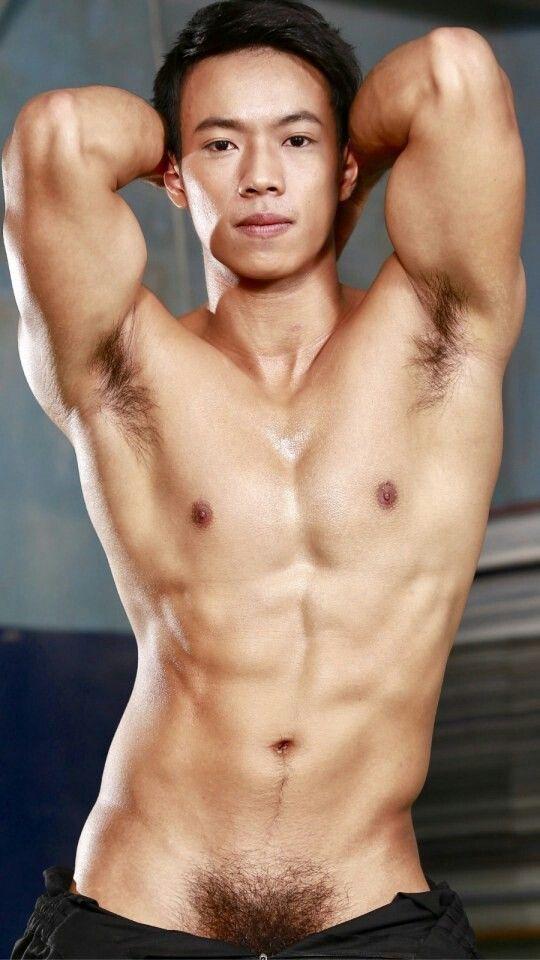 Hot hairy asian