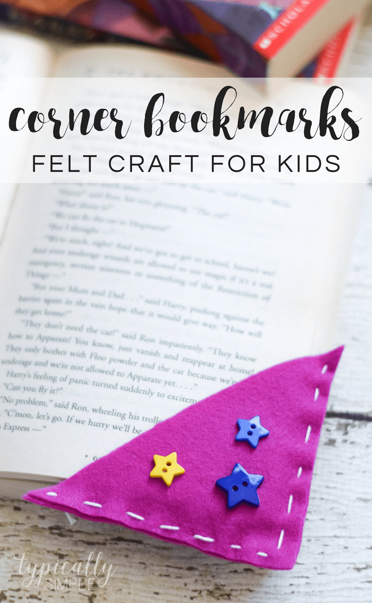 Corner Bookmarks Easy Beginner Sewing Felt Craft For Kids Best