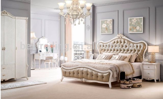 Source F0150 French Baroque Design Wooden Bedroom Furniture Set King Size  Bed/ Palace Royal Classic Bedroom Bed Set On M.alibaba.com