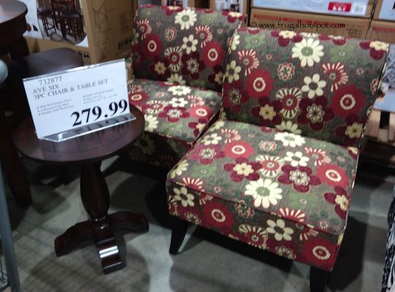 Avenue Six 3-Piece Chair & Accent Table Set. #Costco #FrugalHotspot - Avenue Six 3-Piece Chair & Accent Table Set. #Costco