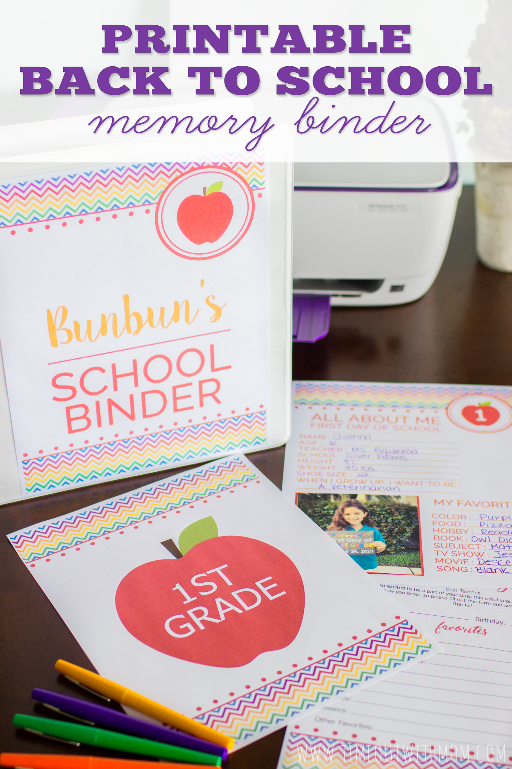 Preserve Your Child S School Year Memories With A Back To School Memory Binder Free Printables