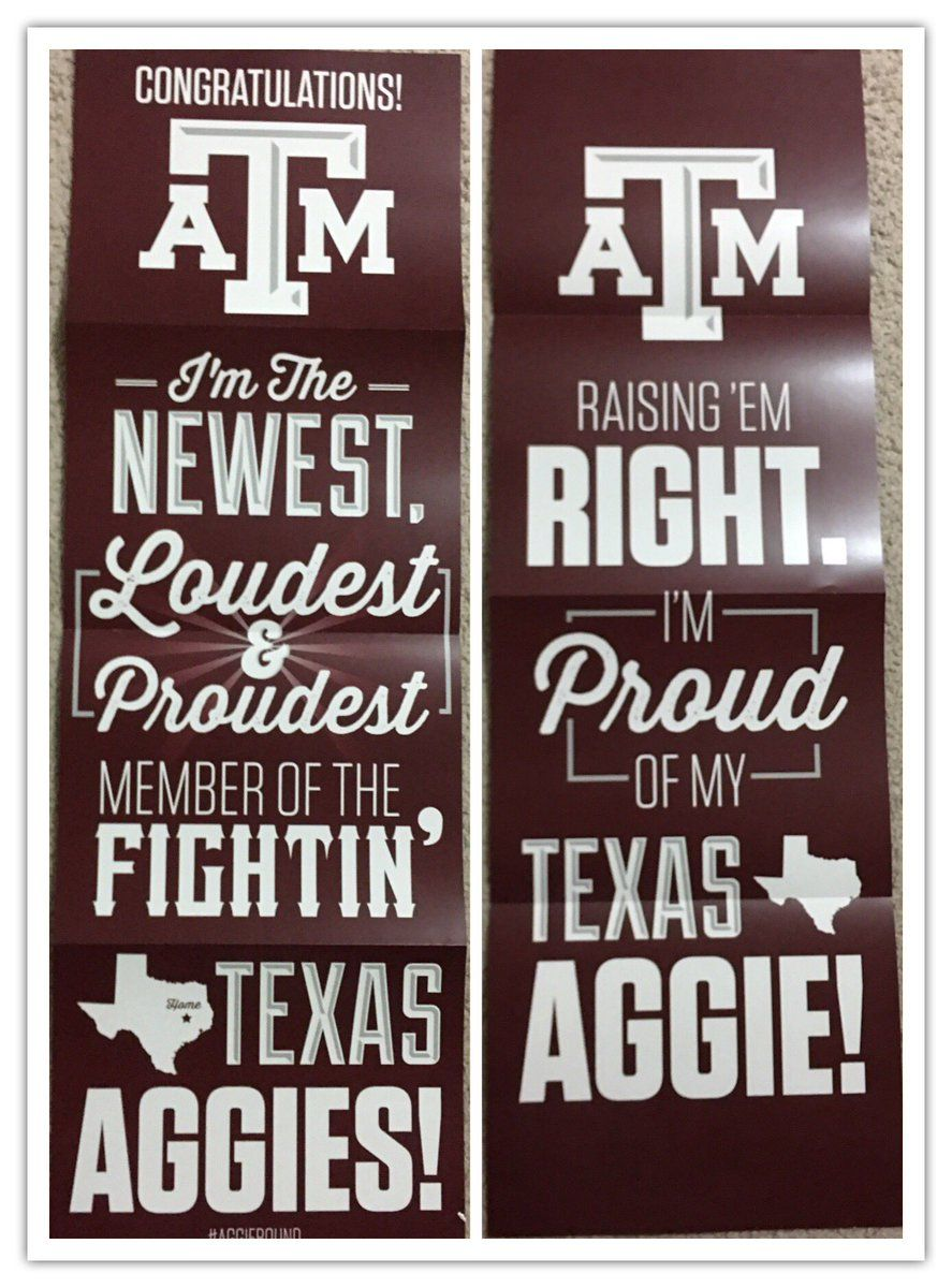 A&M Acceptance Poster Acceptance, Texas aggies, Novelty sign