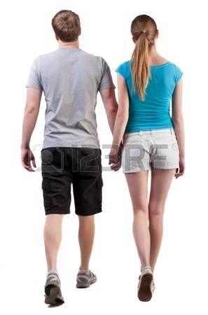 Mujer Caminando Espalda Vista Posterior De Ir Joven Pareja Hombre Y Mujer Caminando Hermosa Chica Amabl Persona Caminando Pareja De Espaldas Espalda Hombre