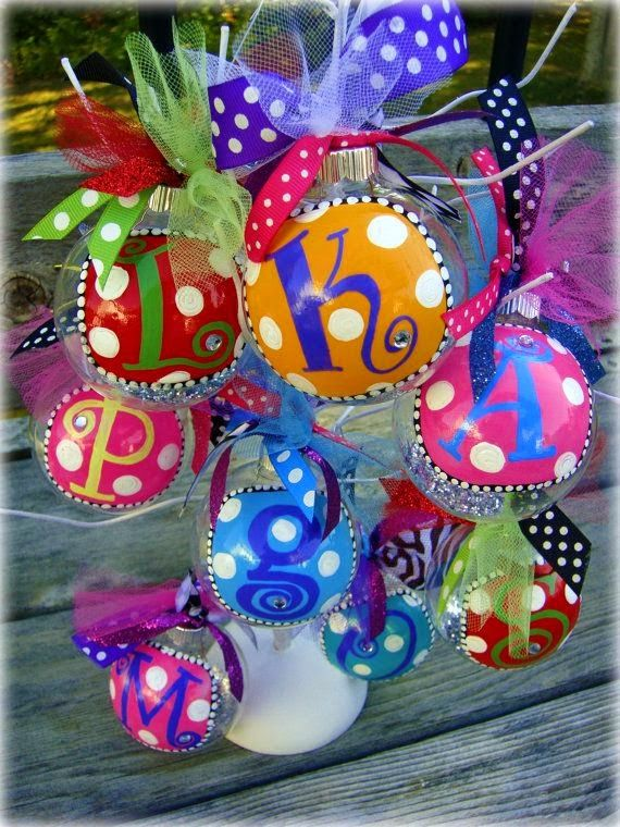 Cute christmas colorful balls winterchristmas pinterest sharpie paint pens ornaments ribbon and you have yourself a very cute diy ornament for xmas solutioingenieria Choice Image