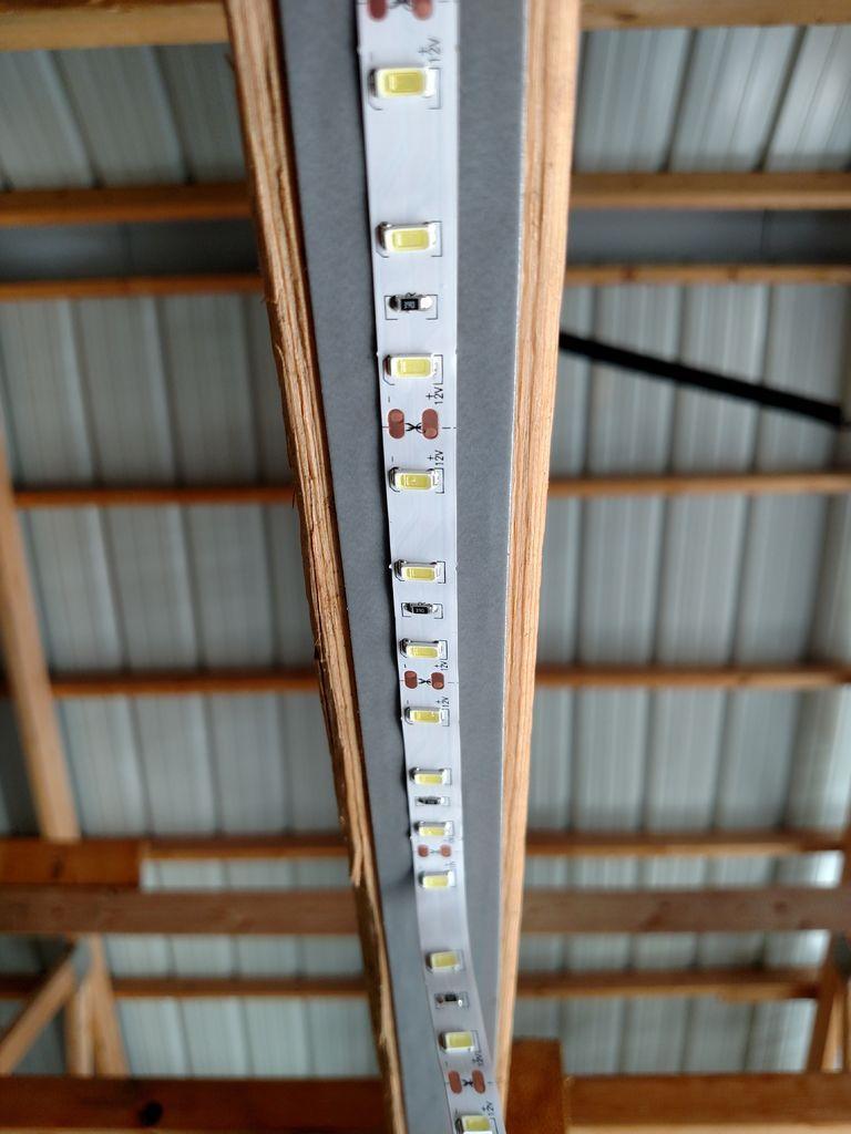 Inexpensive Garage Lights From LED Strips Garage