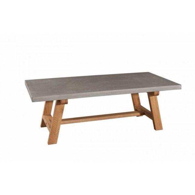 Inside 75 Table Basse Beton Nino En Chene Style Industriel Table