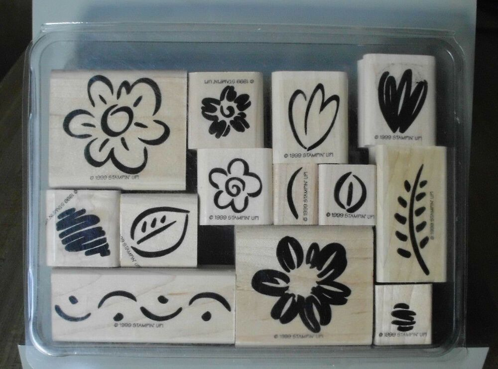 Stampin Up Two Step Fanciful Flower Rubber Stamp