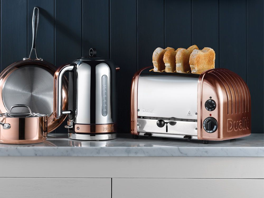 copper finish classic kettle classic range toasters. Black Bedroom Furniture Sets. Home Design Ideas