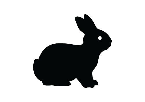 clipart image bunny silhouette - photo #40