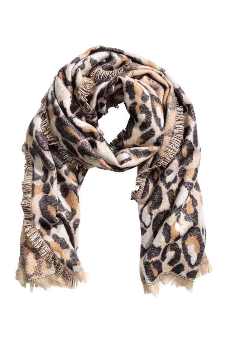 hoe te kopen exclusieve schoenen nieuwste ONLY semi-transparante sjaal met luipaard print in 2019 ...