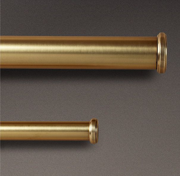Antique Brass End Caps Rod Set Brass Curtain Rods Double Rod