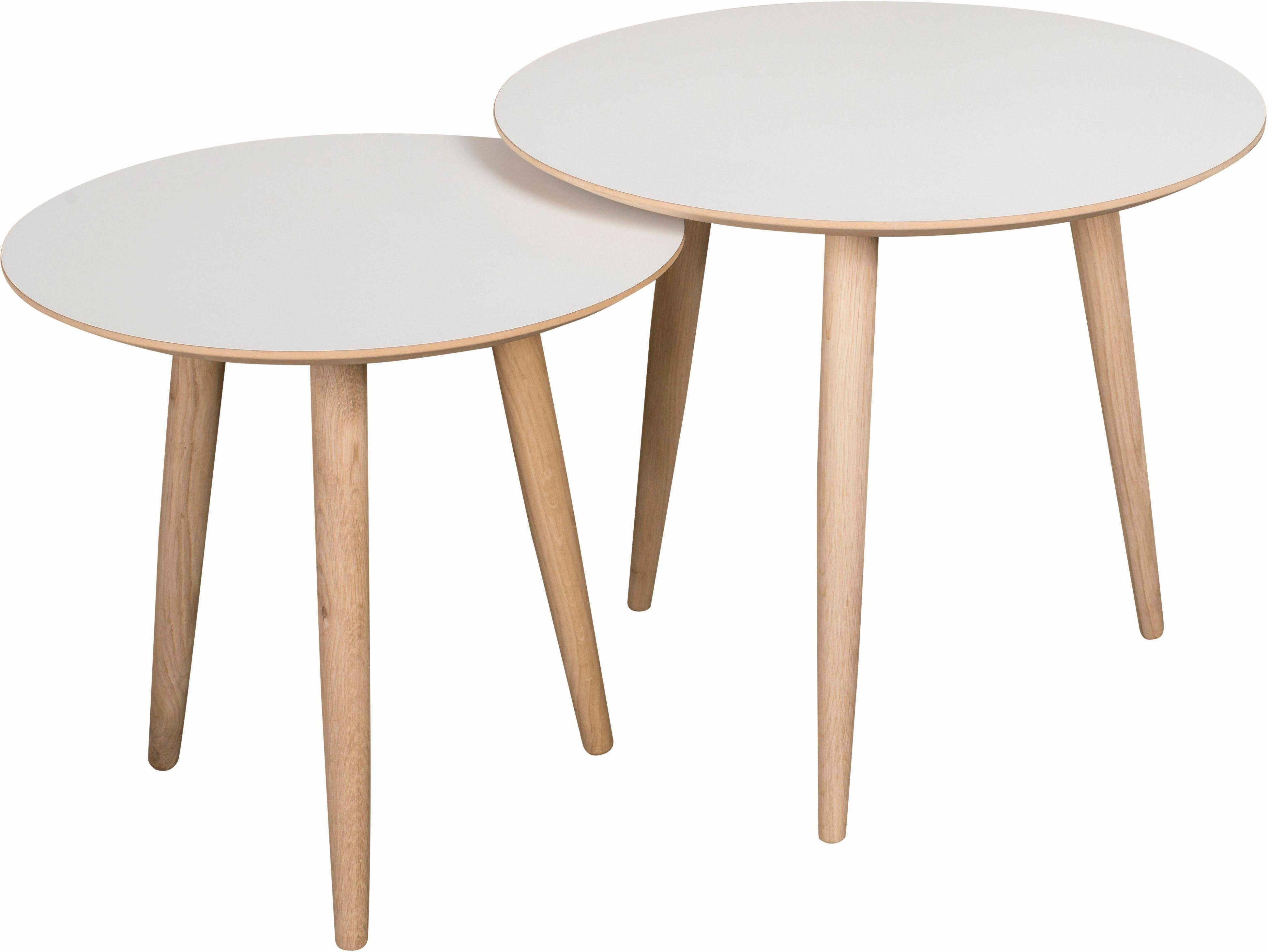 ANDAS Couchtisch-Set «Yvonne» », 2 runde Tische in 2 Größen zu ...