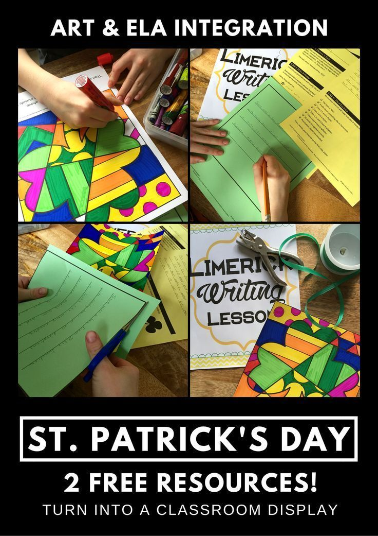 St. Patrick\'s Day Activity - Making a Limerick Mobile | Writing ...