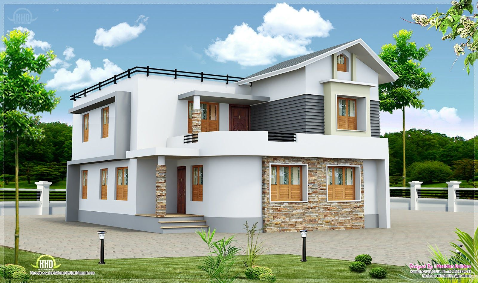 exterior-floor-house-design-ideas-with-two-floors-and-white-wall ...