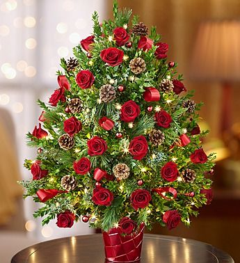 Christmas Holiday Flower Tree Luxury Make A Huge Impression This Holiday With Our Truly Origina Christmas Flower Arrangements Christmas Floral Holiday Flower