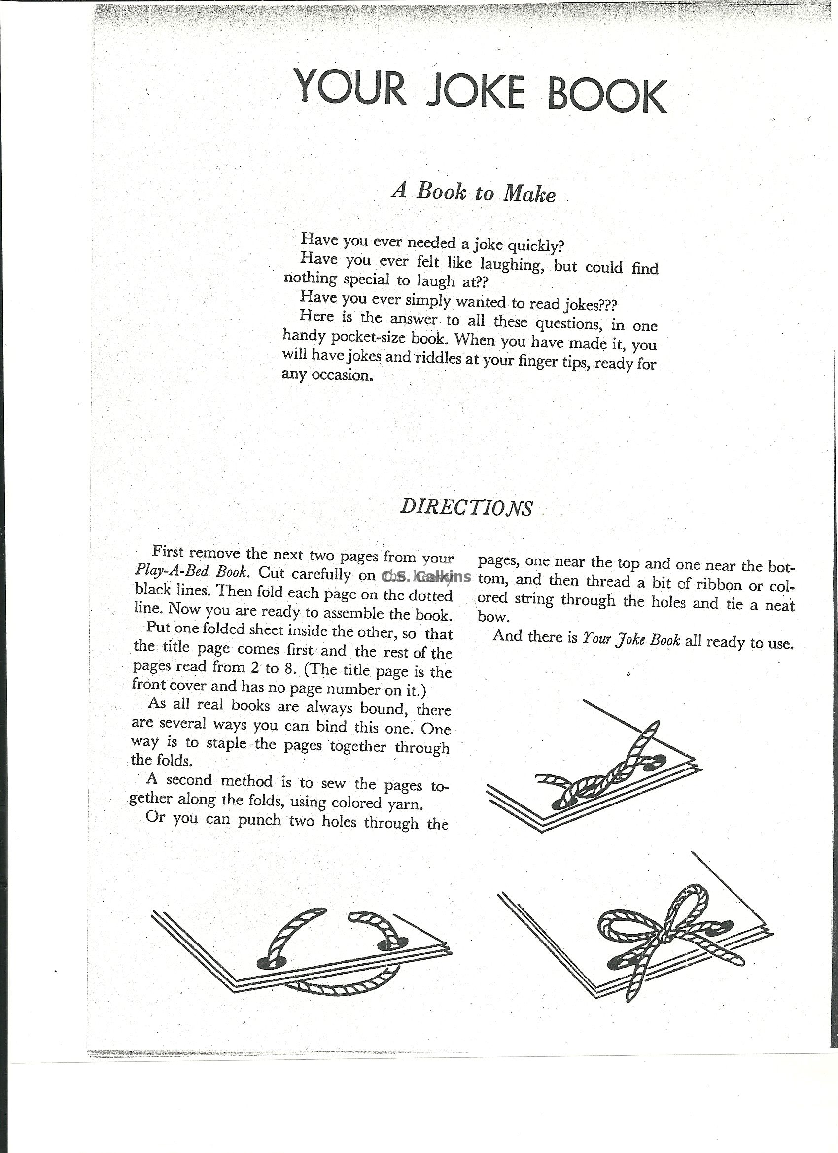 Get Our Free Back To School Vintage Children S Joke Book