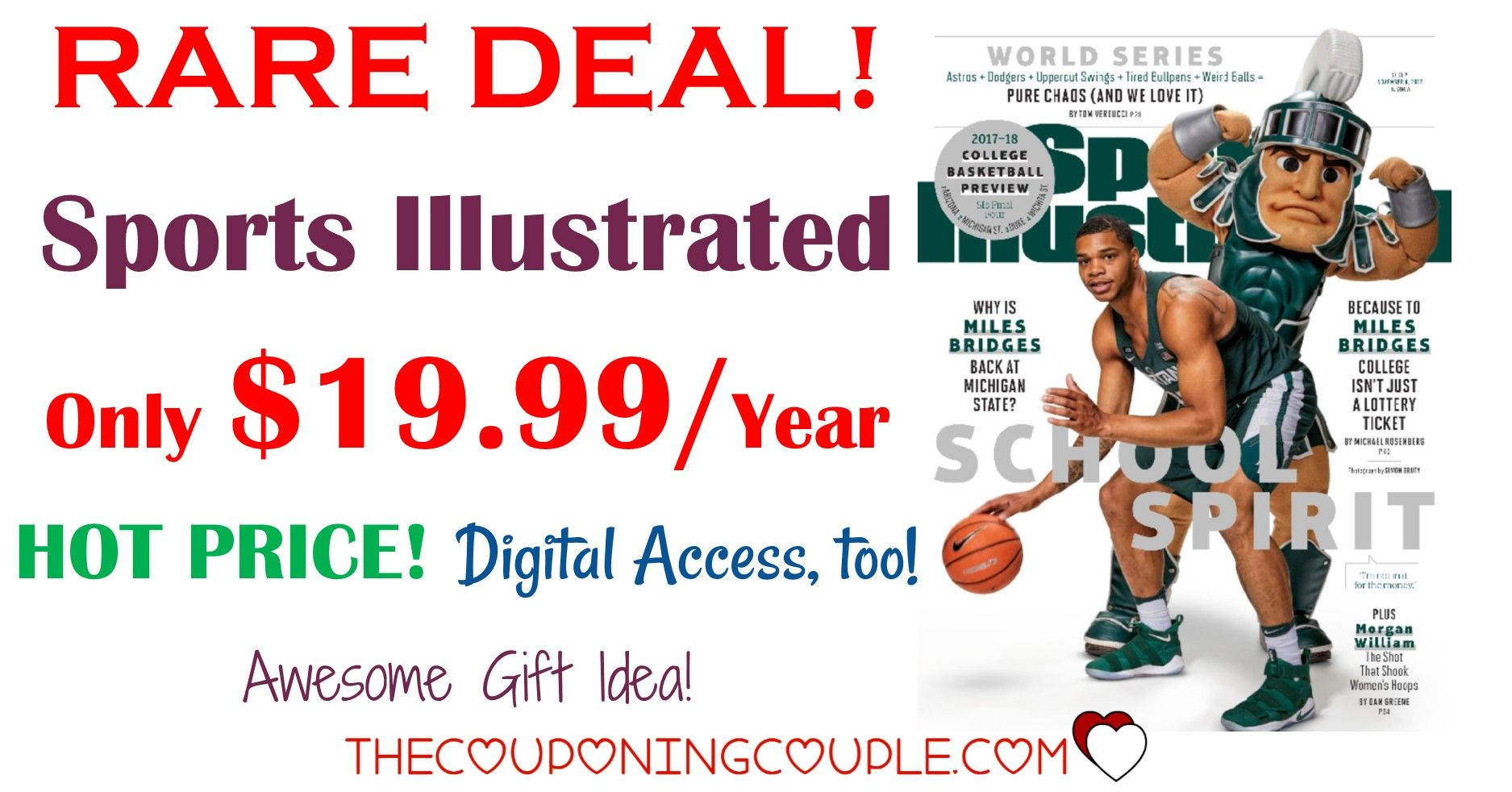 HOT DEAL! Sports Illustrated Magazine 14.99/ 2 Years