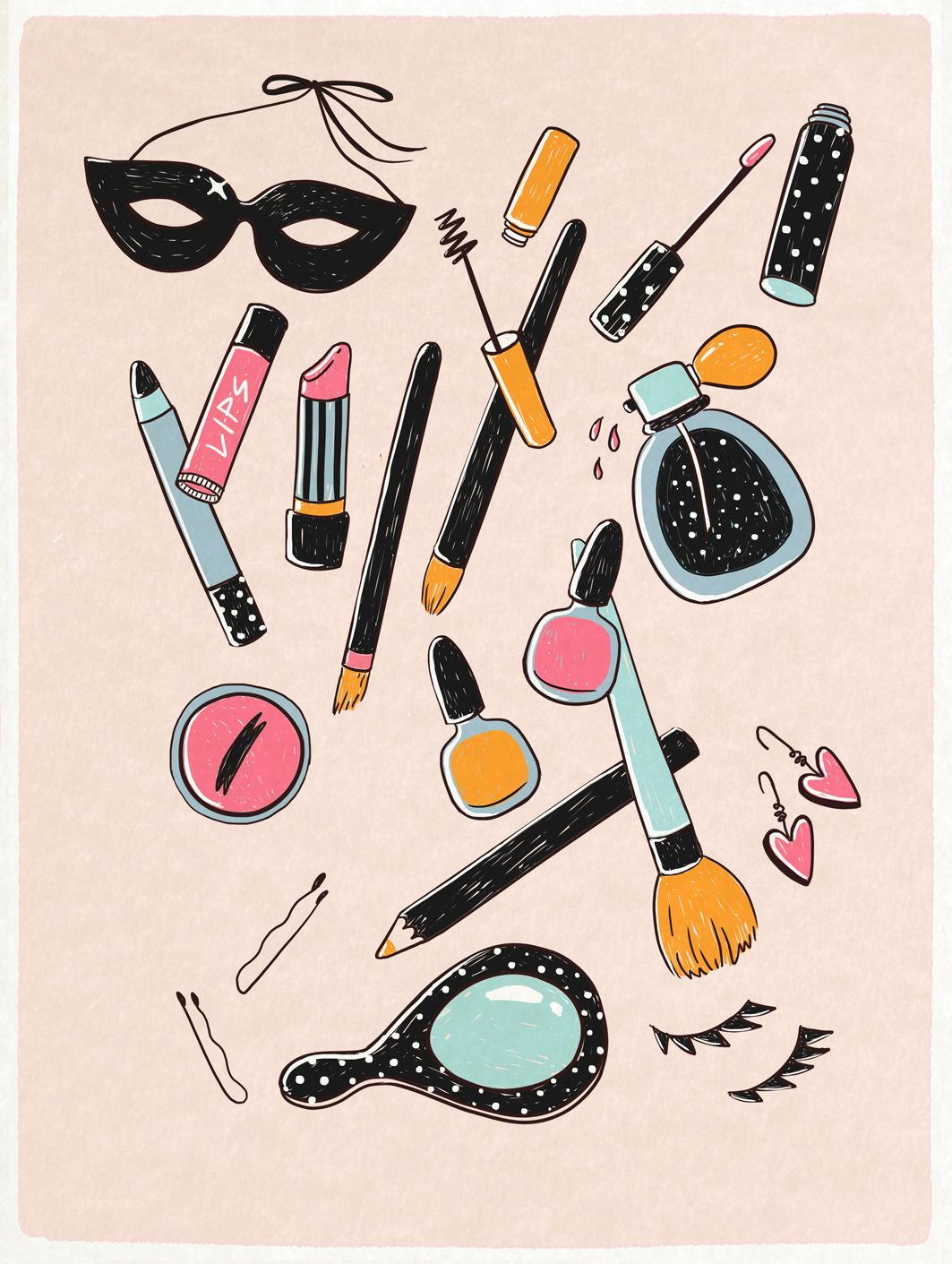 What's In Your Bag? Ilustración de maquillaje Dibujos