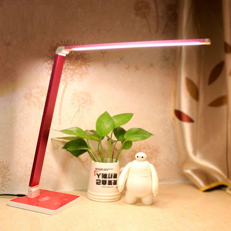 Five Touch Dimmer USB Desk Lamps Study Reading lampe led Aluminum ...