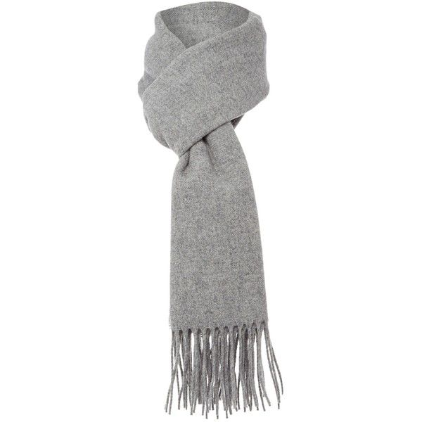 Boutique Moschino Diamante Logo scarf (€120) ❤ liked on Polyvore featuring accessories, scarves, light grey, oblong scarves, wool scarves, wool shawl, long shawl and long scarves
