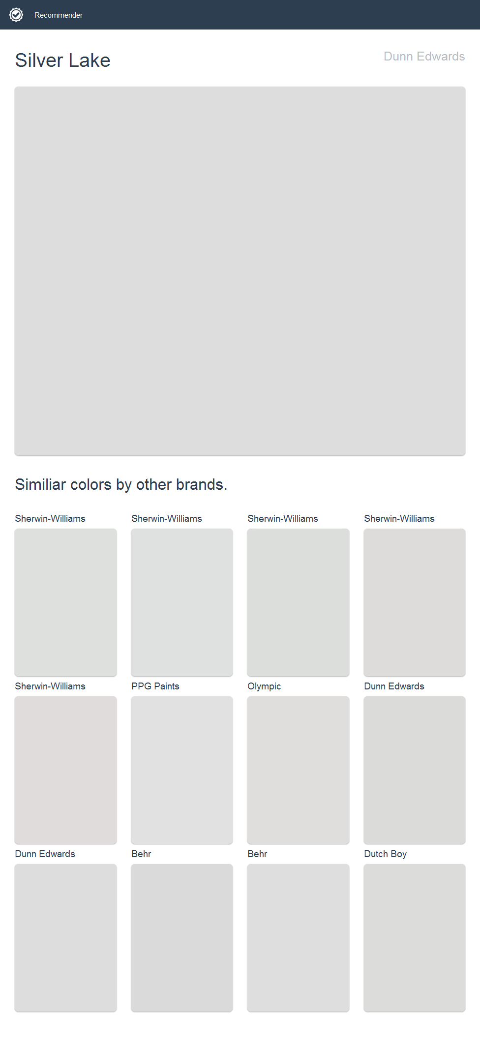 Silver Lake Dunn Edwards Click The Image To See Similiar Colors By Other Brands Dunn Edwards Paint House Paint Exterior Behr Paint Colors