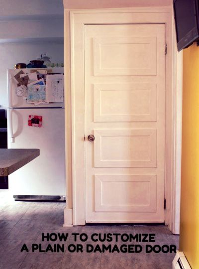 How to update a plain or damaged door with custom panels. & How to update a plain or damaged door with custom panels. | Projects ...