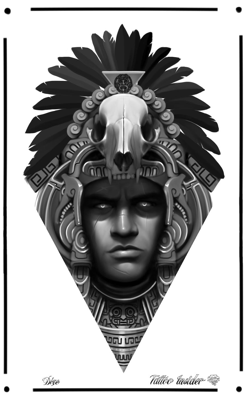 Chicano Tattoos Desenho Chicano Tattoos Mayan Tattoos Aztec