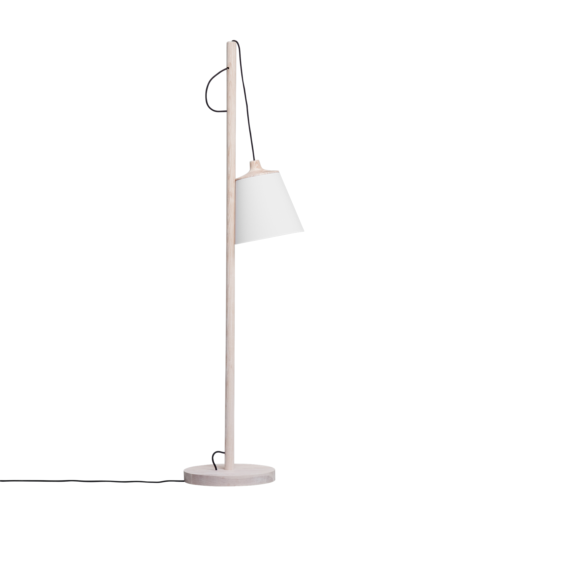 The Pull Floor Lamp Has A Slim But Sturdy Oak Wood Body That Eases Into Your Home Or Professional Space See Floor Lamp Design Floor Lamp Scandinavian Lighting