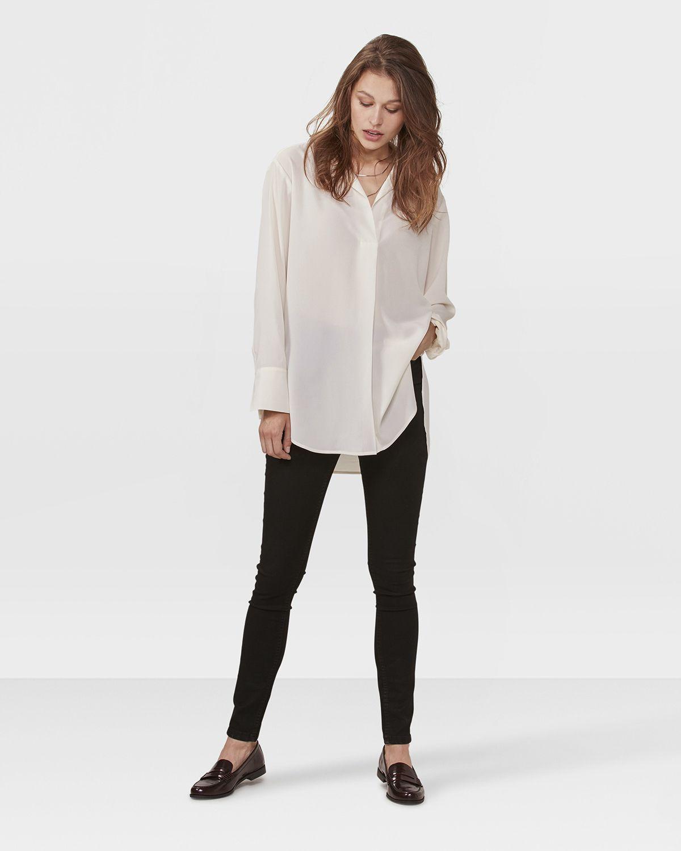 Shirt My Of Wit Gebroken Blouse Style Dames Fashion Women Axd6qFq