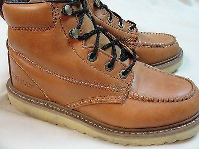 e96b5843d8a Details about Men's 8 Inch Leather Work Boots-Lace Up, Soft Toe, Lug ...