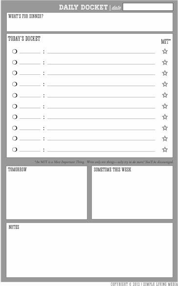 pocket-docketjpg (364×585) planner Pinterest Organizing - daily checklist template word