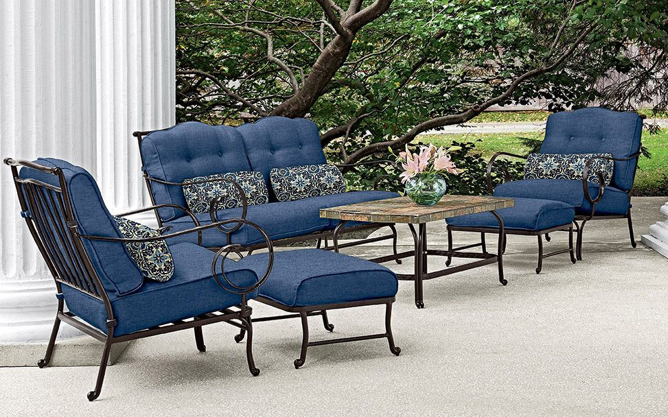 Sink Into A Sea Of Comfort With The Oceana 6 Piece Patio Set